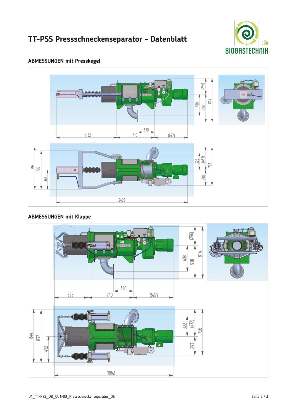 Datenblatt Sepogant Typ TT-PSS 3